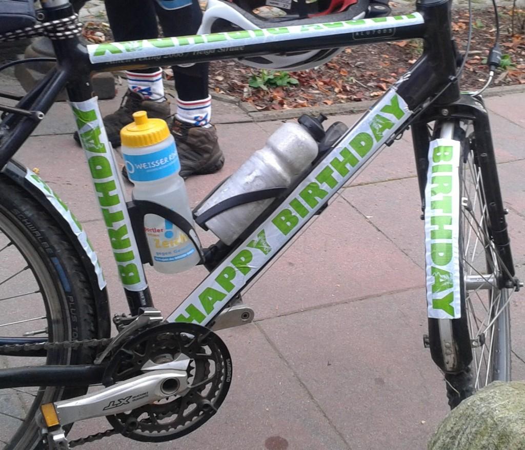 Geburtstagsparty als Fahrradtour - Geburtstagsfahrrad